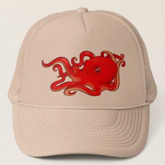 Red Octopus Trucker Hat
