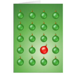 Red Odd Ball Greeting Card