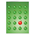 Red Odd Ball Greeting Cards
