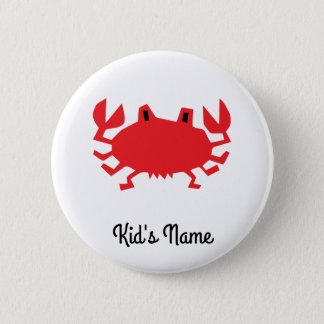 Red of sea crab button