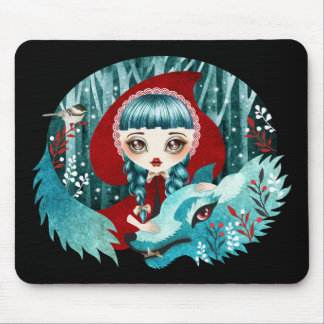 Red of the Woods Mouse Pad