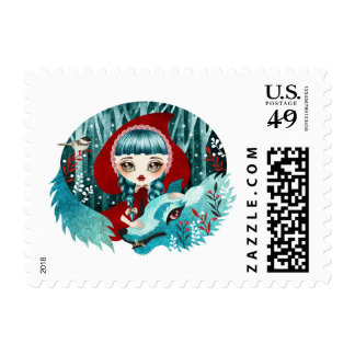 Red of the Woods Postage Stamps