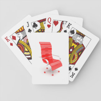 Red Office Chair Playing Cards