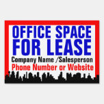 Red Office Space For Lease Sign, Customizable Yard Sign