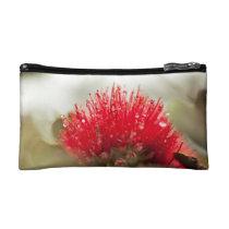 Red Ohia Lehua Accessory Bag