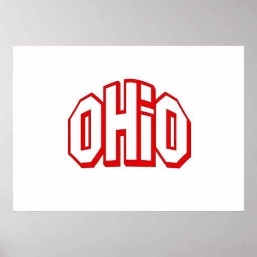 Red Ohio Print