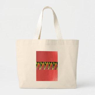 Red Oil painted wall print n Flower Strip Gift bi Tote Bag