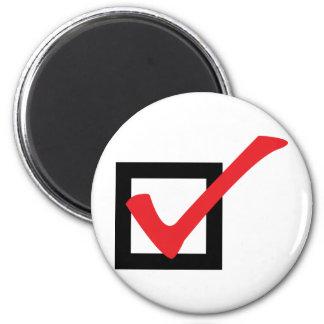 red OK icon Fridge Magnets