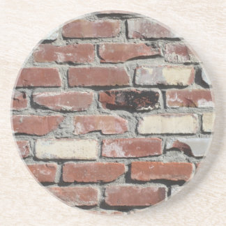 Red old brick wall effect drink coaster