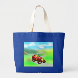 Red old car canvas bags