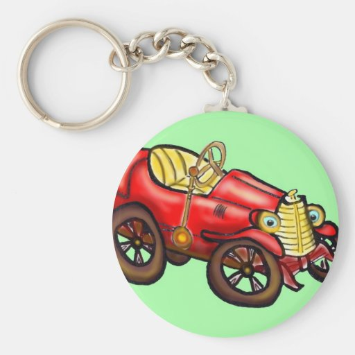 Red old car key chains