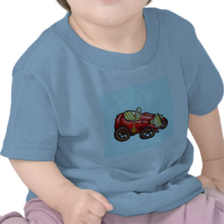 Red old car t-shirts