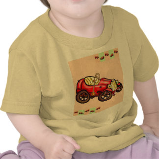 Red old car t-shirt