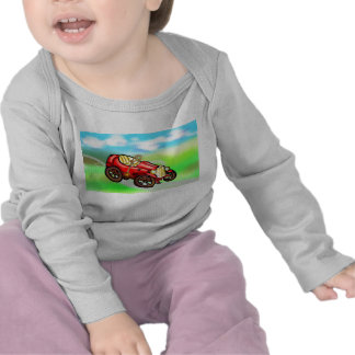 Red old car tee shirt