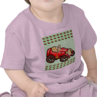 Red old car shirt