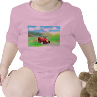 Red old car tee shirts