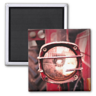 Red Old Tractor Light Magnet