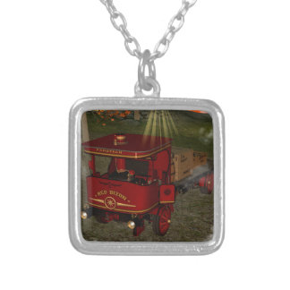 Red old truck necklaces