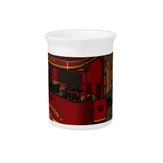Red old truck pitchers