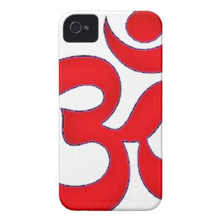Red OM,AUM, SANSKRIT, MANTRA, TANTRA, YOGA iPhone 4 Cover