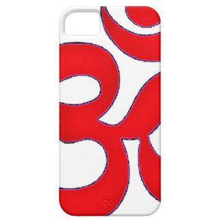 Red OM,AUM, SANSKRIT, MANTRA, TANTRA, YOGA iPhone SE/5/5s Case