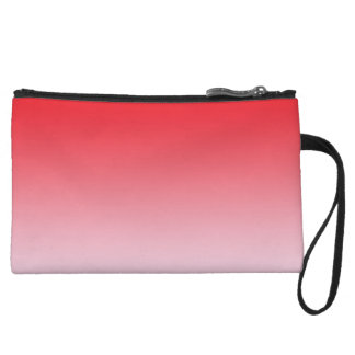 Red Ombre Wristlet Clutch