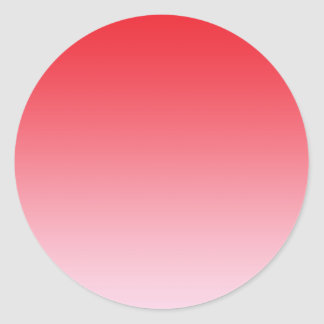 Red Ombre Classic Round Sticker