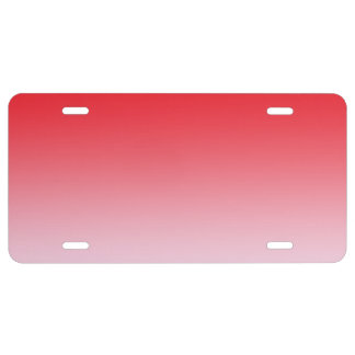 """Red Ombre"" License Plate"