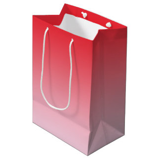 Red Ombre Medium Gift Bag