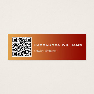 Red Ombre QR CODE Mini Business Cards