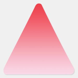 Red Ombre Triangle Sticker