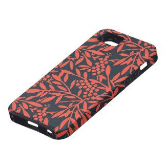 Red on black floral design iphone 5 case