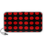 Red on Black Polka Dots Mp3 Speakers
