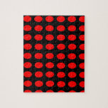 Red on Black Polka Dots Puzzle