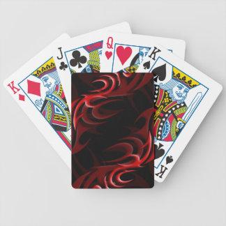 "Red on Black ""Smoke"" Playing Cards"