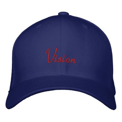 Red on Blue Vision Embroidered Cap Embroidered Hat