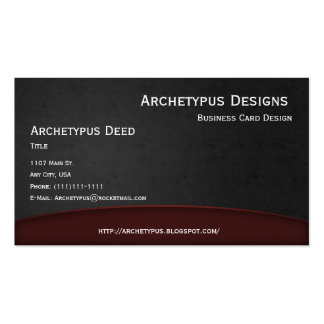 Red on Gray Curves Business Card Style 1