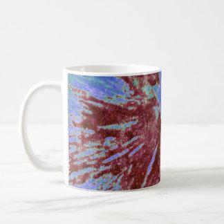 Red on Purple and Blue Paintball Coffee Mug