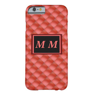 Red on Red Basket Weave Barely There iPhone 6 Case
