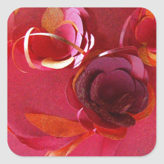 Red on Red by Robert E Meisinger 2014 Square Sticker