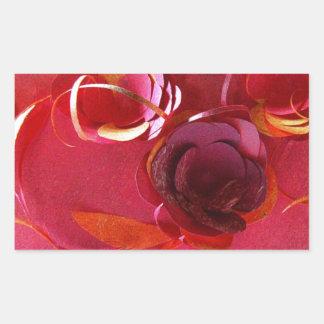 Red on Red by Robert E Meisinger 2014 Rectangle Sticker