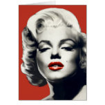 Red on Red Lips Marilyn Card