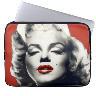 Red on Red Lips Marilyn Laptop Sleeve