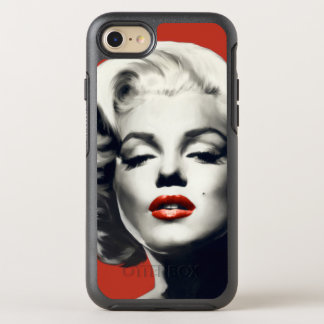Red on Red Lips Marilyn OtterBox Symmetry iPhone 7 Case