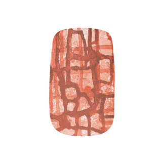 Red on red nail  Minx® nail art
