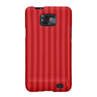 Red on Red Pattern Stripes Galaxy SII Cover