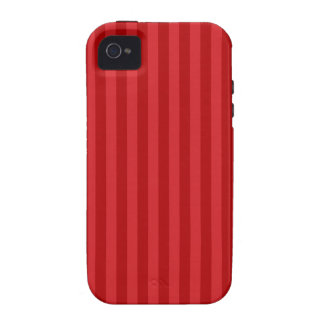 Red on Red Pattern Stripes iPhone 4/4S Cases