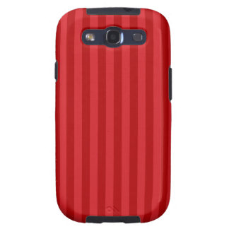Red on Red Pattern Stripes Samsung Galaxy S3 Cases