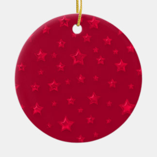 Red On Red Starry Ornament