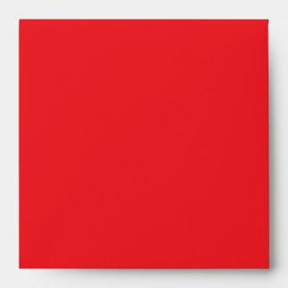 Red on White Polka Dot Envelopes
